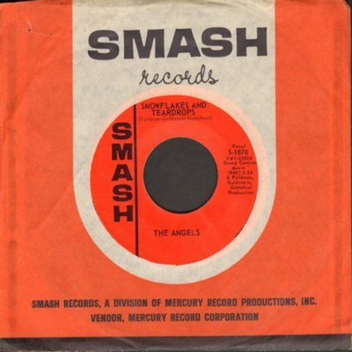 Angels - Snowflakes And Teardrops/Wow Wow Wee (He's The Boy For Me) (with Smash company sleeve) (bb) - NM9/ - 45 rpm Records