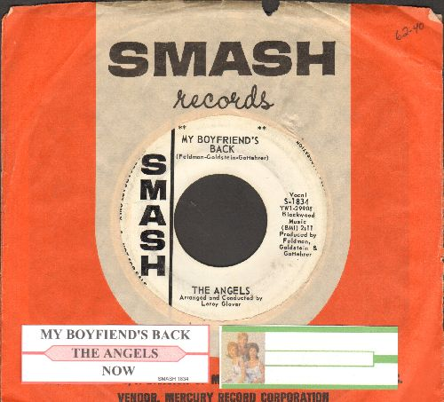 Angels - My Boyfriend's Back/(Love Me) Now (FANTASTIC over-looked flip-side!) (DJ advance pressing with juke box label and vintage Smash company sleeve) - VG7/ - 45 rpm Records
