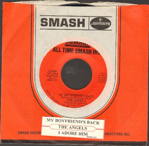 Angels - My Boyfriend's Back/I Adore Him (double-hit re-issue with company sleeve and juke box label) - NM9/ - 45 rpm Records