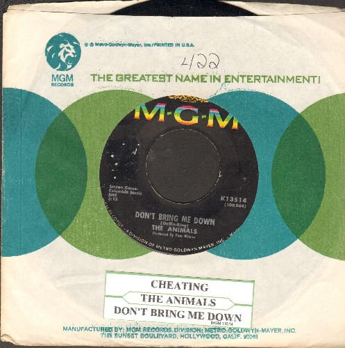 Animals - Don't Bring Me Down/Cheating (with juke box label and MGM company sleeve) - EX8/ - 45 rpm Records