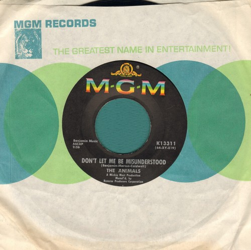 Animals - Don't Bring Me Down/Cheating (with MGM company sleeve) - EX8/ - 45 rpm Records