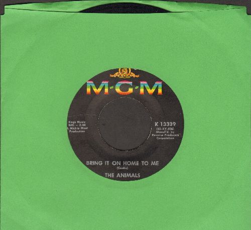 Animals - Bring It On Home To Me/For Miss Caulker (with MGM company sleeve) - VG7/ - 45 rpm Records