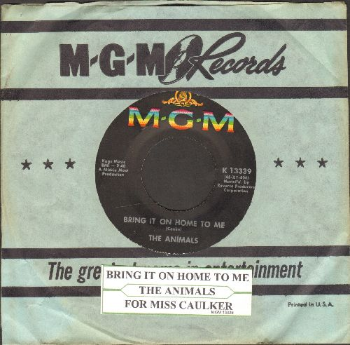Animals - Bring It On Home To Me/For Miss Caulker (with MGM company sleeve and juke box label) - EX8/ - 45 rpm Records