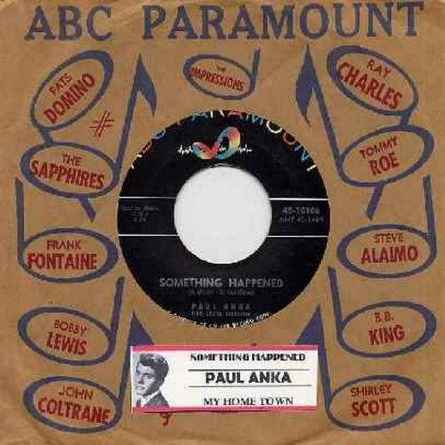 Anka, Paul - My Home Town/Something Happened (with vintage ABC-Paramount company sleeve and juke box label) - NM9/ - 45 rpm Records