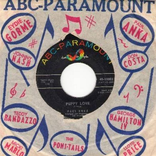 Anka, Paul - Puppy Love/Adam And Eve (with ABC-Paramount company sleeve) - NM9/ - 45 rpm Records