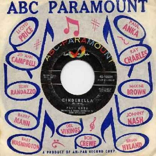 Anka, Paul - Cinderella/Kissin' On The Phone (with ABC Paramount company sleeve) - NM9/ - 45 rpm Records