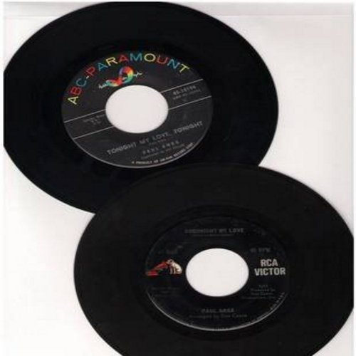 Anka, Paul - 2 for 1 Special: Tonight My Love Tonight/Goodnight My Love (2 vintage first issue 45rpm records for the price of 1!) - EX8/ - 45 rpm Records