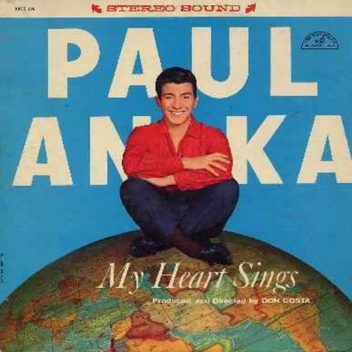 Anka, Paul - My Heart Sings: Pigalle, C'est Si Bon, Melodie D'Amour, I Miss You So, I Love Paris, If You Love Me (Really Love Me) (vinyl LP record, RARE STEREO pressing!) - VG7/EX8 - LP Records