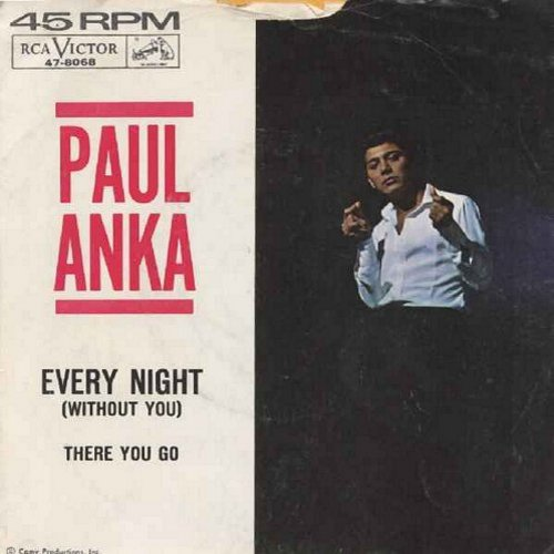 Anka, Paul - Every Night/There You Go (with picture sleeve) - EX8/VG7 - 45 rpm Records
