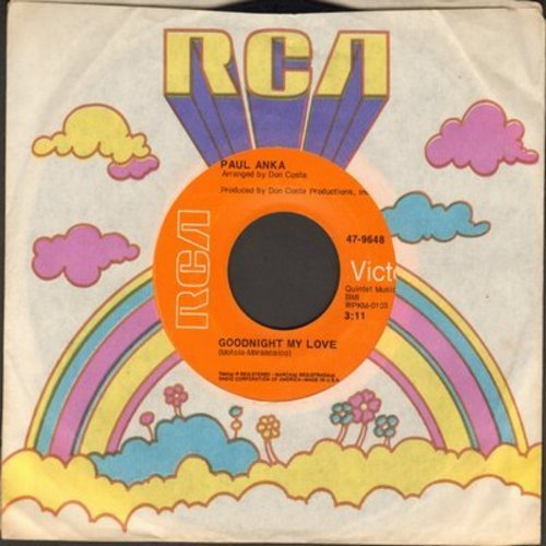 Anka, Paul - Goodnight My Love/This Crazy World - EX8/ - 45 rpm Records