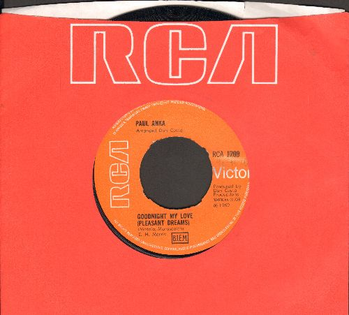 Anka, Paul - Goodnight My Love/This Crazy World (British Pressing with RCA company sleeve) - NM9/ - 45 rpm Records