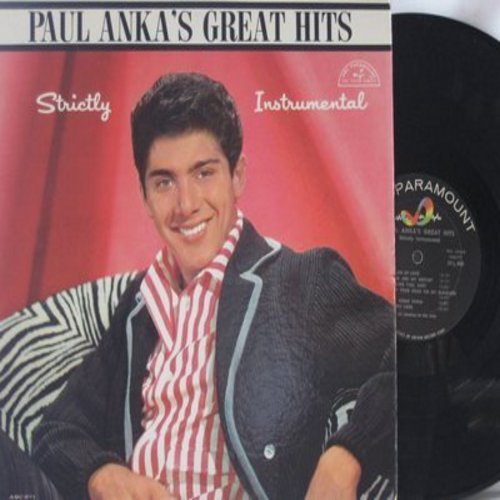 Anka, Paul - Paul Anka's Greatest Hits Strictly Instrumental: Train Of Love, Puppy Love, Diana, Put Your Head On My Shoulder (Vinyl MONO LP record) - EX8/EX8 - LP Records