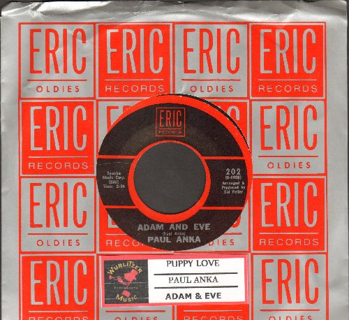 Anka, Paul - Puppy Love/Adam And Eve (re-issue in NICE condition with company sleeve and juke box label) - NM9/ - 45 rpm Records