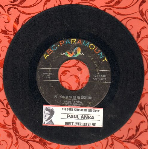 Anka, Paul - Put Your Head On My Shoulder/I Go Crazy (with juke box label and company sleeve) - VG7/ - 45 rpm Records