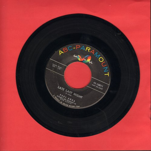 Anka, Paul - I Miss You So/Late Last Night (with juke box label) - VG7/ - 45 rpm Records