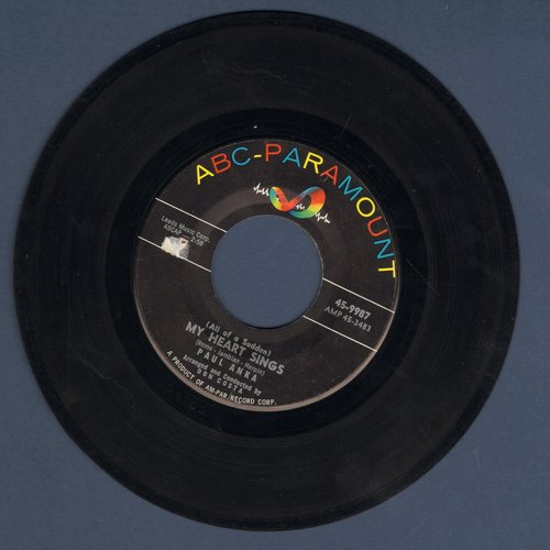 Anka, Paul - All Of A Sudden My Heart Sings/That's Love - EX8/ - 45 rpm Records