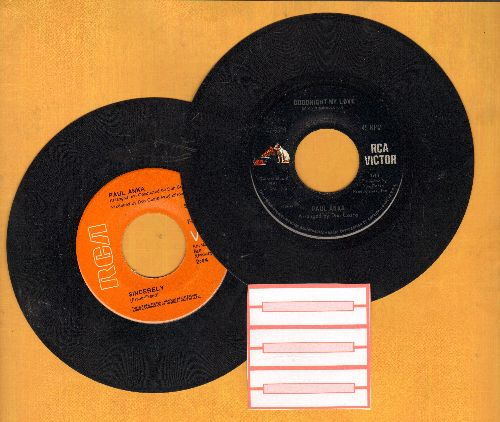 Anka, Paul - 2 for 1 Special: Goodnight My Love/Sincerely (2 vintage first issue 45rpm records for the price of 1!) - EX8/ - 45 rpm Records
