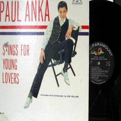 Anka, Paul - Paul Anka Swings For Young Lovers: You Made Me Love You, Secret Love, I'm In The Mood For Love, Train Of Love, Love Is A Many-Splendored Thing (Vinyl MONO LP record, NICE condition!) - NM9/NM9 - LP Records