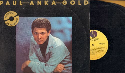 Anka, Paul - Paul Anka Gold: Diana, Puppy Love, Lonely Boy, Put Your Hand On My Shoulder, Adam And Eve (2 vinyl STEREO LP records, gate-fold cover, with picture pages) - EX8/EX8 - LP Records