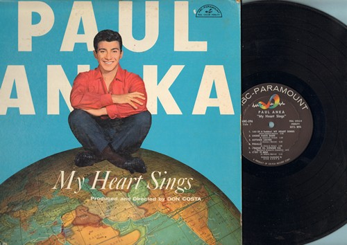 Anka, Paul - My Heart Sings: Pigalle, C'est Si Bon, Melodie D'Amour, I Miss You So, I Love Paris, If You Love Me (Really Love Me) (Vinyl MONO LP record) - NM9/EX8 - LP Records