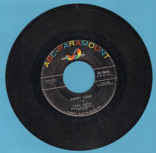 Anka, Paul - Puppy Love/Adam And Eve (with ABC-Paramount company sleeve) - EX8/ - 45 rpm Records