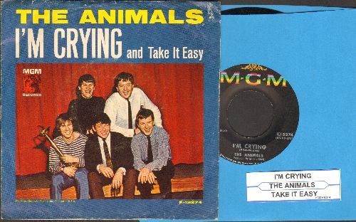 Animals - I'm Crying/Take It Easy Baby (with picture sleeve and juke box label) - EX8/EX8 - 45 rpm Records