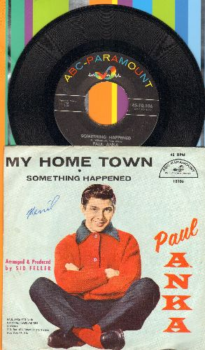 Anka, Paul - My Home Town/Something Happened (with picture sleeve) - NM9/VG7 - 45 rpm Records