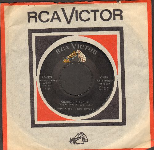 Andy & The Bey Sisters - Big Mamou/Chanson D'Amour (with vintage RCA company sleeve) - NM9/ - 45 rpm Records