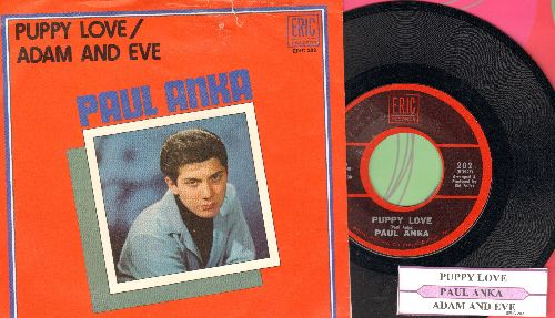 Anka, Paul - Puppy Love/Adam And Eve (re-issue in NICE condition with picture sleeve and juke box label) - NM9/VG7 - 45 rpm Records