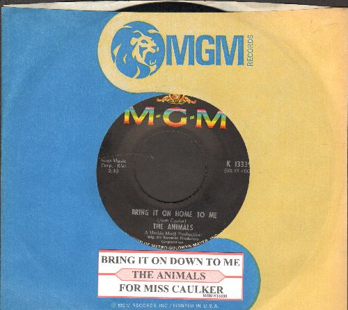 Animals - Bring It On Home To Me/For Miss Caulker (with MGM company sleeve and juke box label) - NM9/ - 45 rpm Records