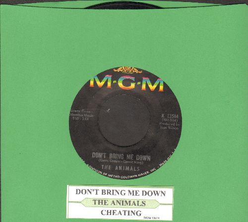 Animals - Don't Bring Me Down/Cheating (with juke box label) - EX8/ - 45 rpm Records