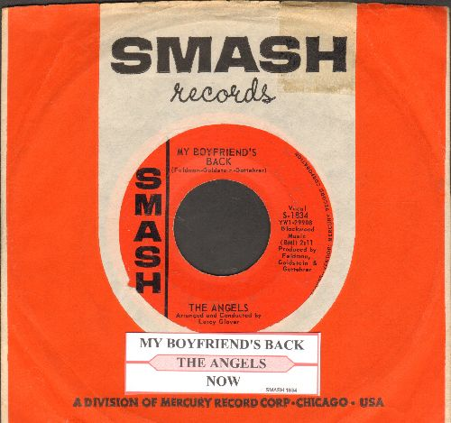 Angels - My Boyfriend's Back/(Love Me) Now (FANTASTIC over-looked flip-side!) (with juke box label and vintage Smash company sleeve) - EX8/ - 45 rpm Records