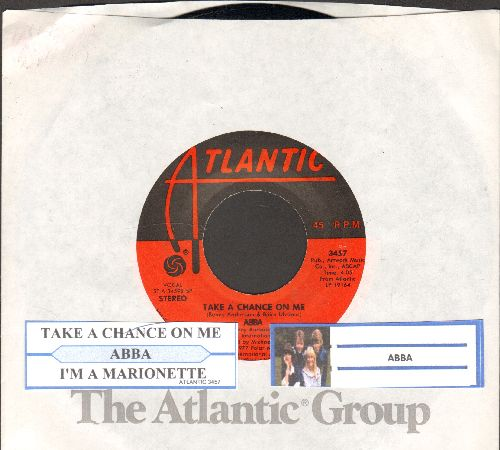 ABBA - Take A Chance On Me/I'm A Marionette (with juke box label and Atlantic company sleeve) - EX8/ - 45 rpm Records