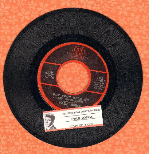 Anka, Paul - Put Your Head On My Shoulder/Summer's Gone (re-issue  with juke box label) - VG7/ - 45 rpm Records