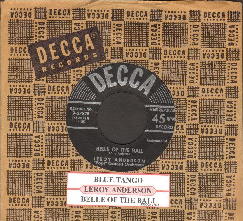 Anderson, Leroy - Belle Of The Ball/Blue Tango (black label, silver lines early pressing with vintage Decca company sleeve and juke box label) - EX8/ - 45 rpm Records
