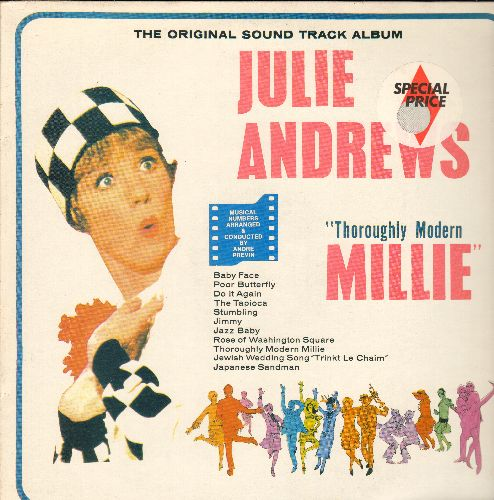 Andrews, Julie, Carol Channing - Thoroughly Modern Millie: The Original Sound Track Album - Baby Face, Do It Again, The Tapioca, Japanese Sandman, Jazz Baby (re-issue of vintage recordings)  - NM9/NM9 - LP Records