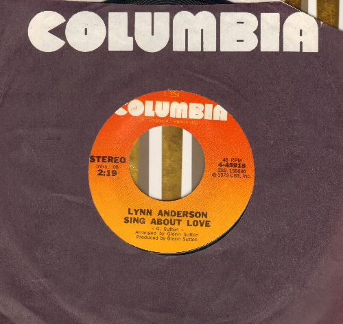 Anderson, Lynn - Sing About Love/Fickle Fortune (with Columbia company sleeve) - NM9/ - 45 rpm Records