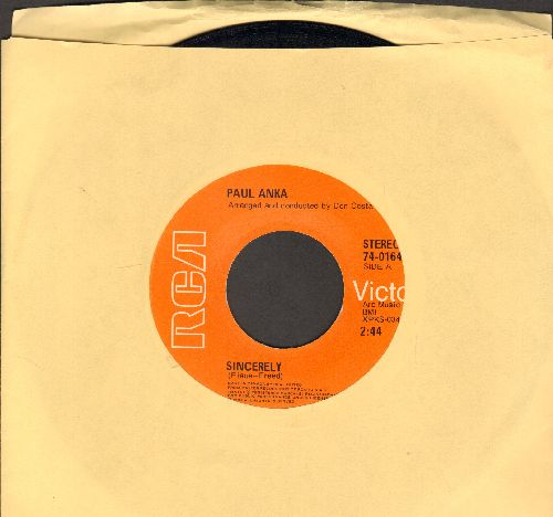 Anka, Paul - Sincerely/Next Year  - M10/ - 45 rpm Records