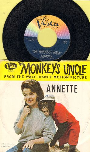 Annette - The Monkey's Uncle/How Will  Know My Love (with picture Sleeve) - NM9/EX8 - 45 rpm Records