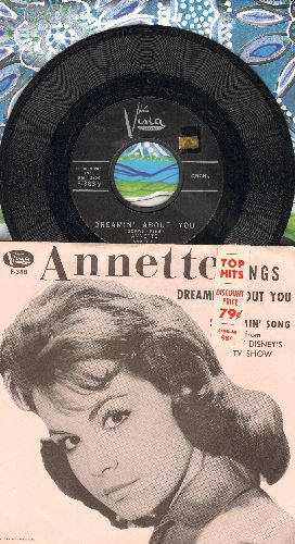 Annette - Dreamin' About You/Strummin' Song (with picture sleeve, sos) - NM9/EX8 - 45 rpm Records