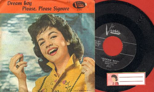 Annette - Dream Boy/Please, Please, Signore (with picture sleeve) - NM9/EX8 - 45 rpm Records