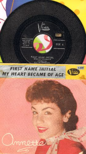 Annette - First Name Initial/My Heart Became Of Age (with picture sleeve) - NM9/ - 45 rpm Records