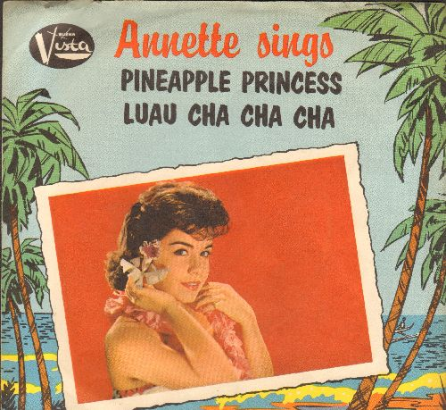 Annette - Pineapple Princess/Luau Cha Cha Cha (with picture sleeve) - VG7/VG7 - 45 rpm Records