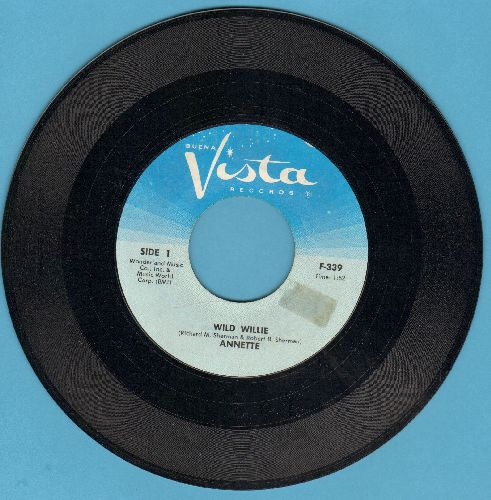 Annette - Wild Willie/Lonely Guitar (light blue label) - NM9/ - 45 rpm Records