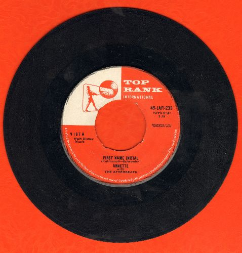 Annette - First Name Initial/My Heart Became Of Age (British Pressing) (minor wol) - EX8/ - 45 rpm Records