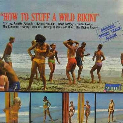 Annette, Kingsmen, Harvey Lembeck & Cast, others - How To Stuff A Wild Bikini - Original Motion Picture Soundtrack, includes title song by The Kingsmen, 2 songs by Annette, more! (Vinyl MONO LP record) (bb) - EX8/VG6 - LP Records