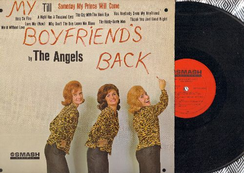 Angels - My Boyfriend's Back: Till, A Night Has A Thousand Eyes, He's So Fine, Thank You And Good Night (Vinyl MONO LP record) (punch holed in 4 corners of cover) - EX8/EX8 - LP Records