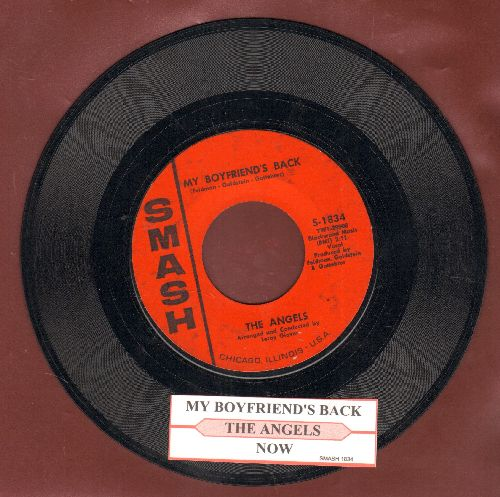 Angels - My Boyfriend's Back/(Love Me) Now (with juke box label) - EX8/ - 45 rpm Records