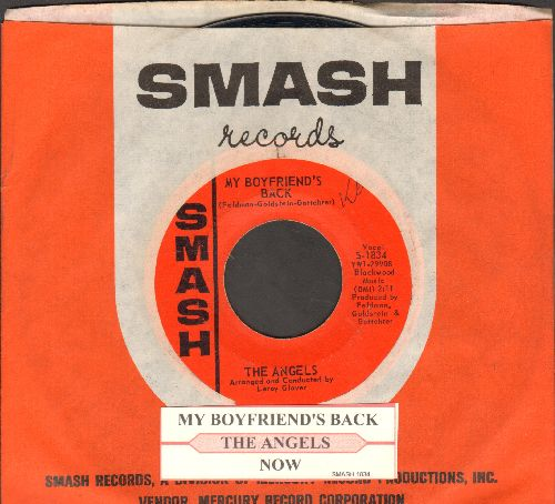 Angels - My Boyfriend's Back/(Love Me) Now (FANTASTIC over-looked flip-side!) (with juke box label and vintage Smash company sleeve) - NM9/ - 45 rpm Records