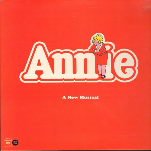 Annie Original Cast - Annie - Original Broadway Cast Recording featuring Andrea McArdle as Little Orphan Annie. 1977 first issue vinyl LP record, gate-fold cover. - EX8/VG7 - LP Records